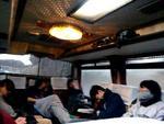 2012春合宿 バスで寝た